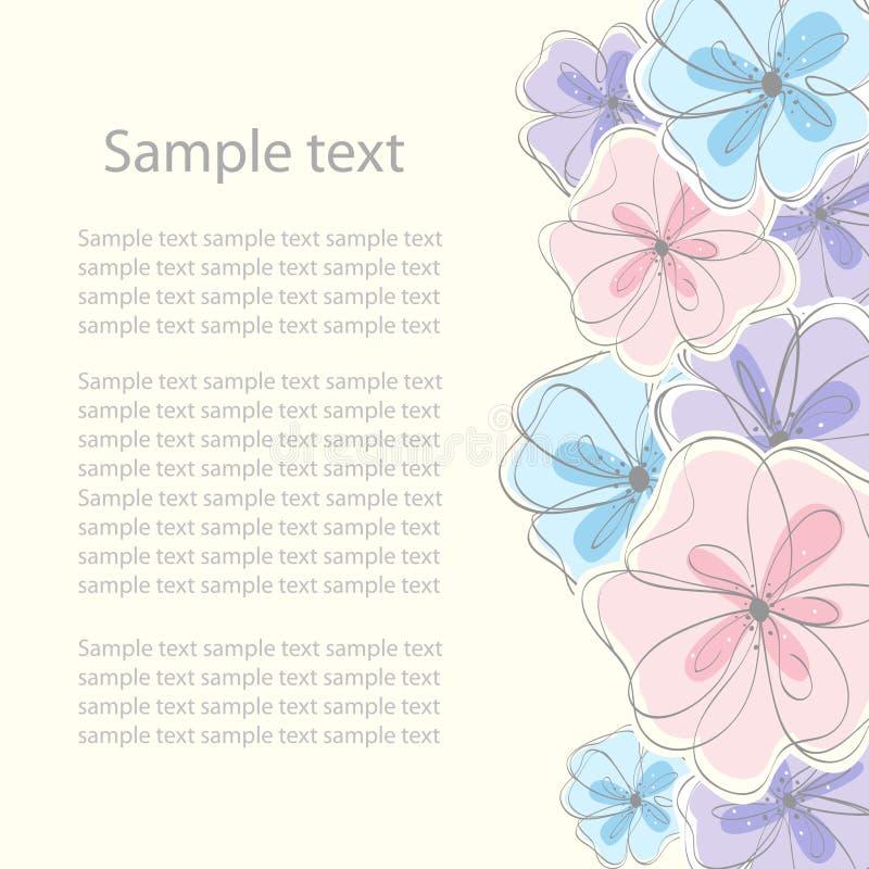 Download χαριτωμένος Floral καρτών ανασ&kapp Διανυσματική απεικόνιση - εικονογραφία από backfill, γιορτάστε: 22785367