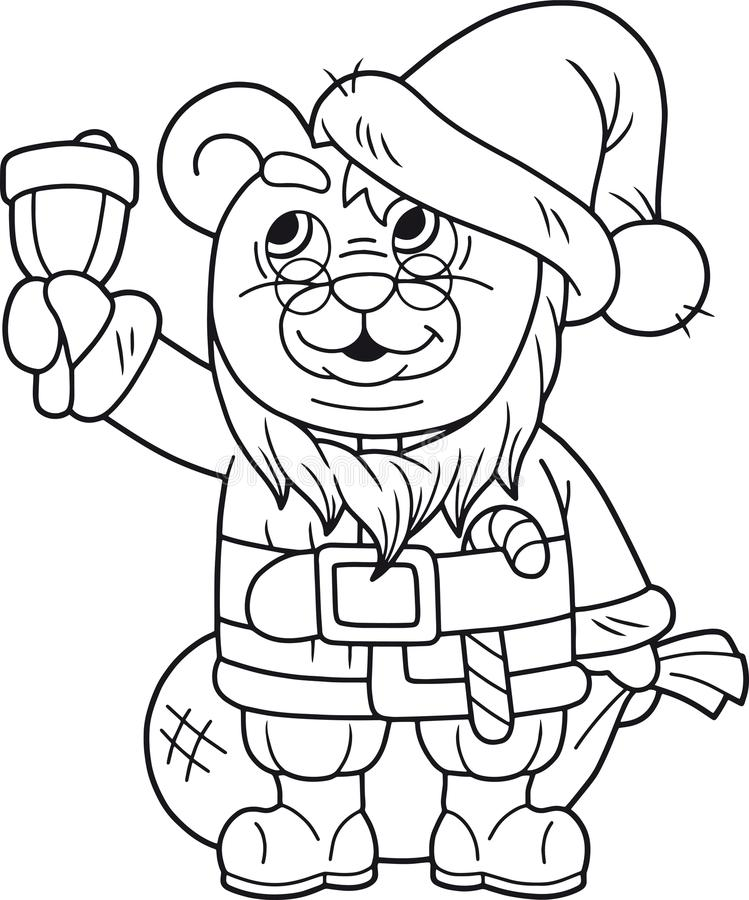 Χαριτωμένος teddy αντέχει το santa ελεύθερη απεικόνιση δικαιώματος