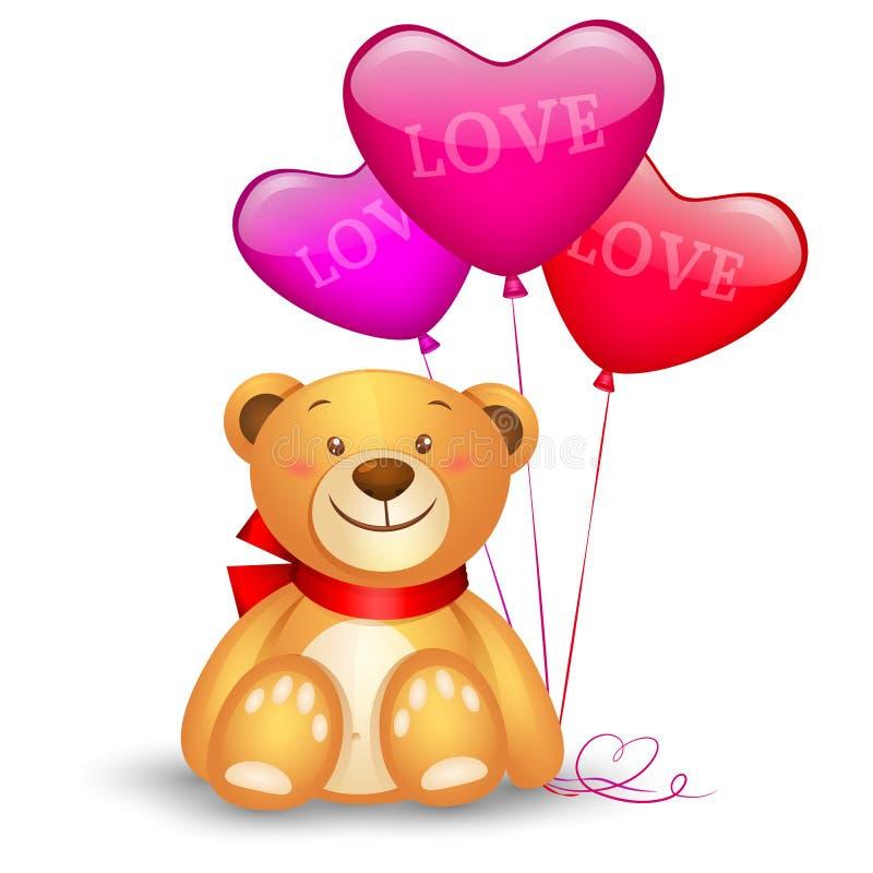 Χαριτωμένος teddy αντέχει διανυσματική απεικόνιση