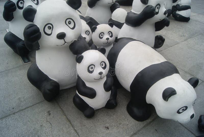 Χαριτωμένο άγαλμα panda, στην Κίνα στοκ φωτογραφία με δικαίωμα ελεύθερης χρήσης