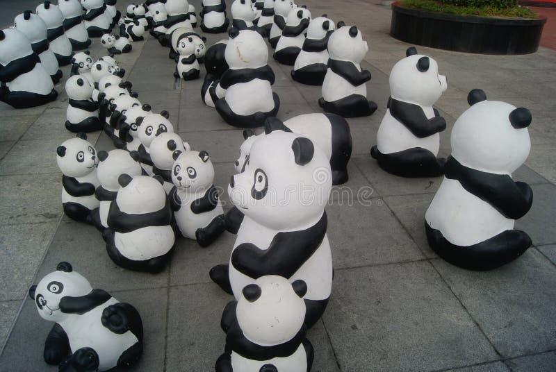 Χαριτωμένο άγαλμα panda, στην Κίνα στοκ φωτογραφία