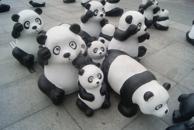 Χαριτωμένο άγαλμα panda, στην Κίνα στοκ εικόνες
