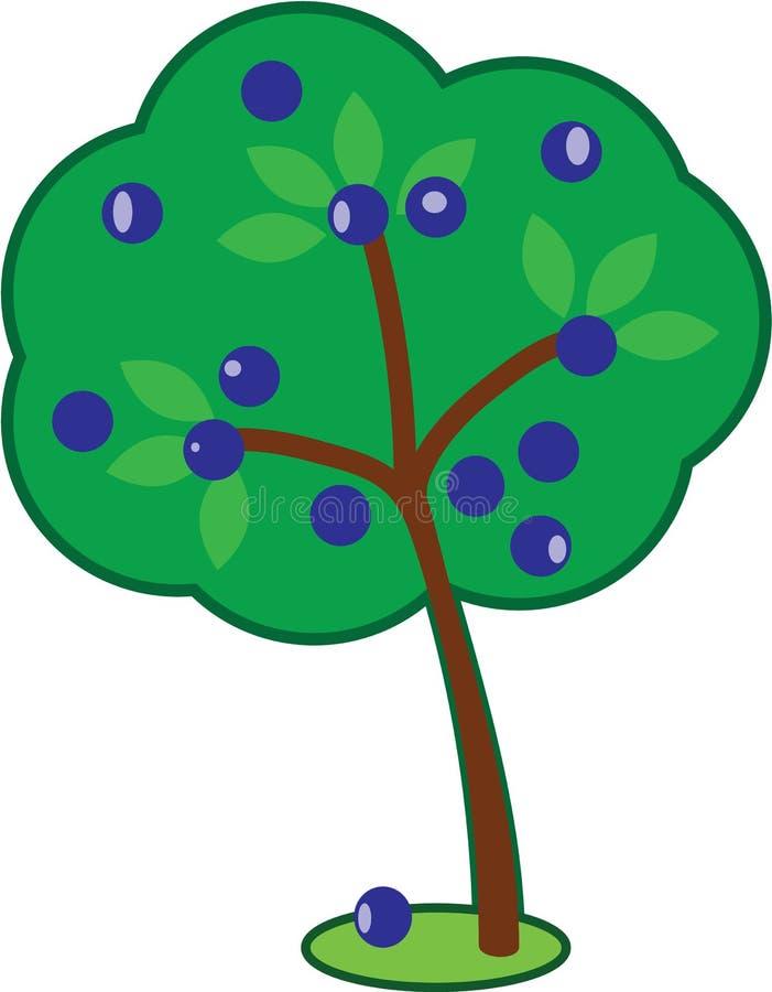 Χαριτωμένο δέντρο δαμάσκηνων ελεύθερη απεικόνιση δικαιώματος