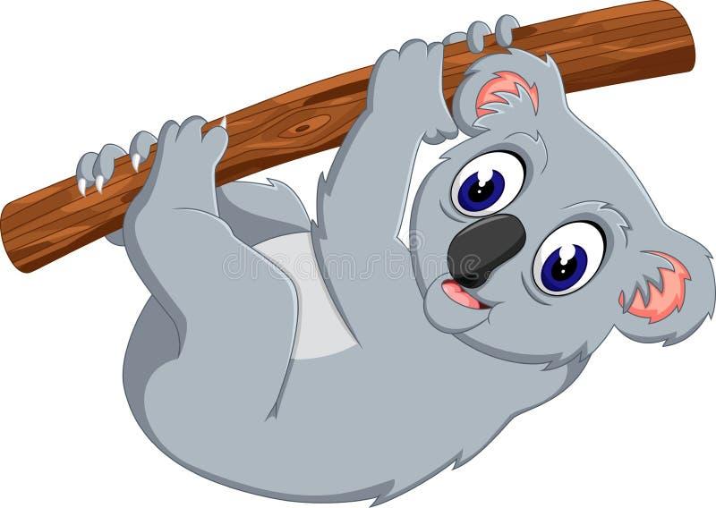 Χαριτωμένο δέντρο εκμετάλλευσης koala ελεύθερη απεικόνιση δικαιώματος