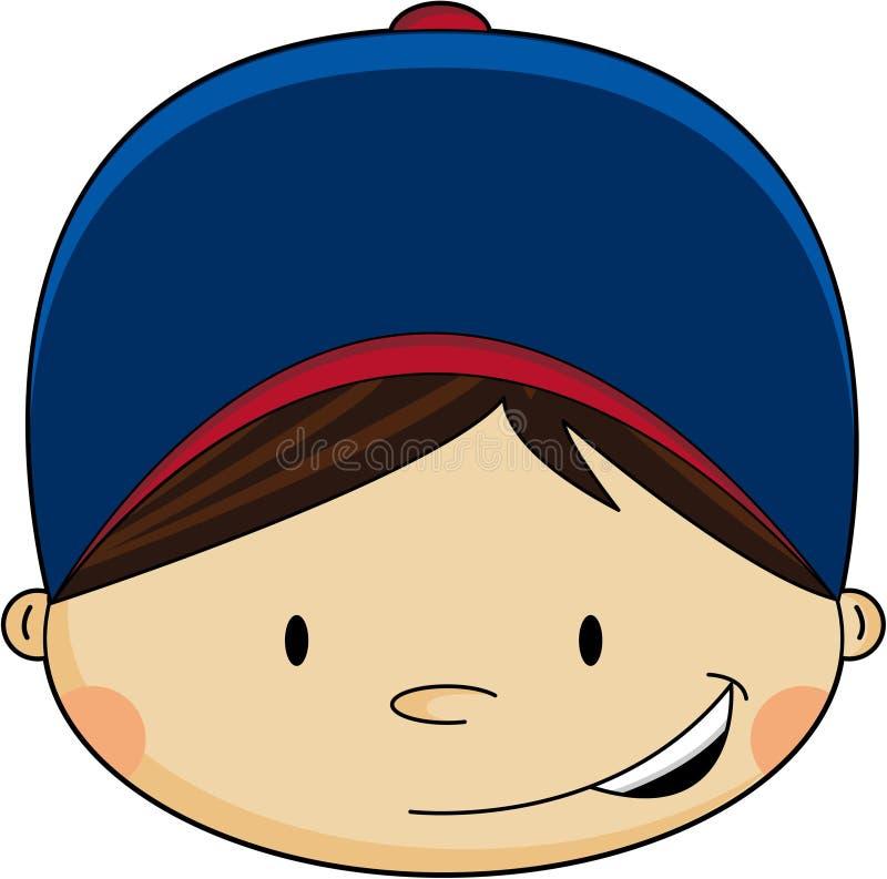 Χαριτωμένο αγόρι μπέιζ-μπώλ απεικόνιση αποθεμάτων