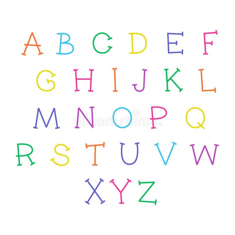 Χαριτωμένο αλφάβητο κινούμενων σχεδίων Διανυσματική αστεία πηγή r ελεύθερη απεικόνιση δικαιώματος