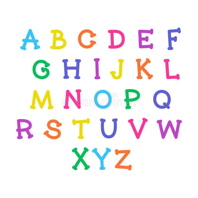 Χαριτωμένο αλφάβητο κινούμενων σχεδίων Διανυσματική αστεία πηγή r απεικόνιση αποθεμάτων