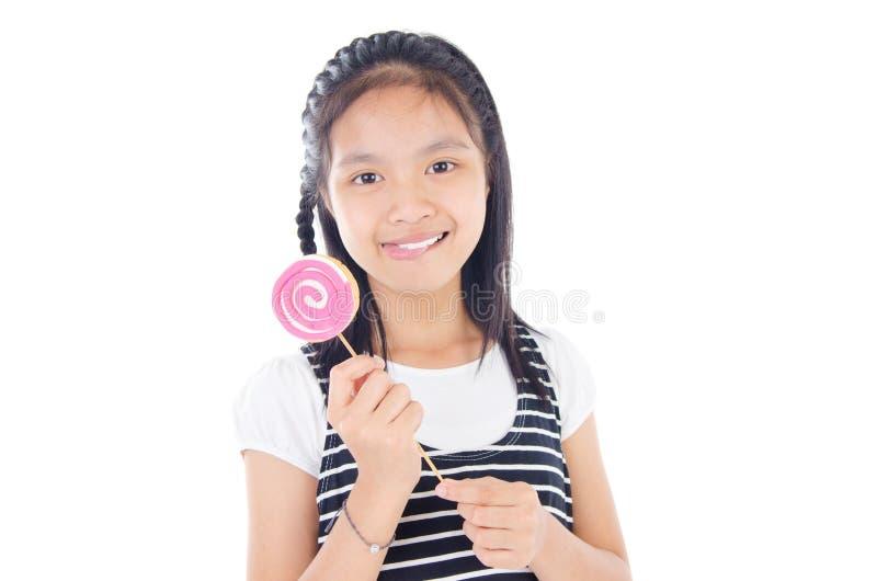 Χαριτωμένο ασιατικό κορίτσι στοκ εικόνα με δικαίωμα ελεύθερης χρήσης