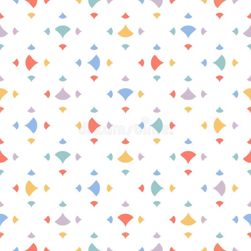 Χαριτωμένο αφηρημένο γεωμετρικό άνευ ραφής σχέδιο με τα μικρά ζωηρόχρωμα τρίγωνα, κομφετί απεικόνιση αποθεμάτων