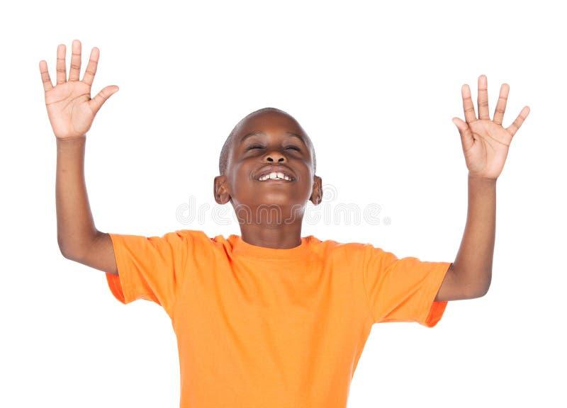 Χαριτωμένο αφρικανικό αγόρι στοκ φωτογραφίες