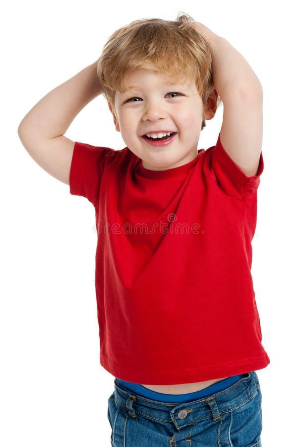 Χαριτωμένο γέλιο αγοριών στοκ εικόνα