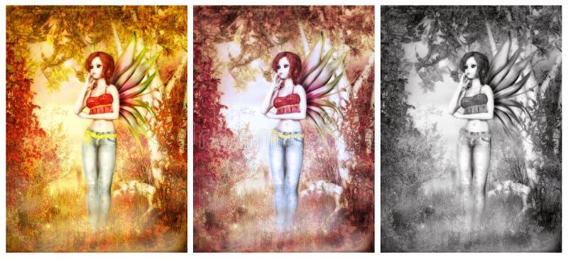 χαριτωμένο γλυκό faerie ελεύθερη απεικόνιση δικαιώματος
