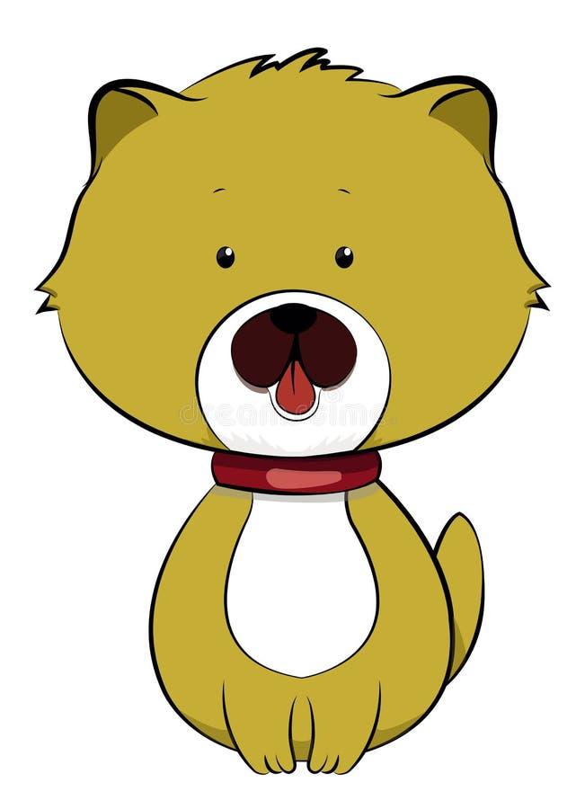 Χαριτωμένο διάνυσμα απεικόνισης κουταβιών σκυλιών στοκ φωτογραφία με δικαίωμα ελεύθερης χρήσης