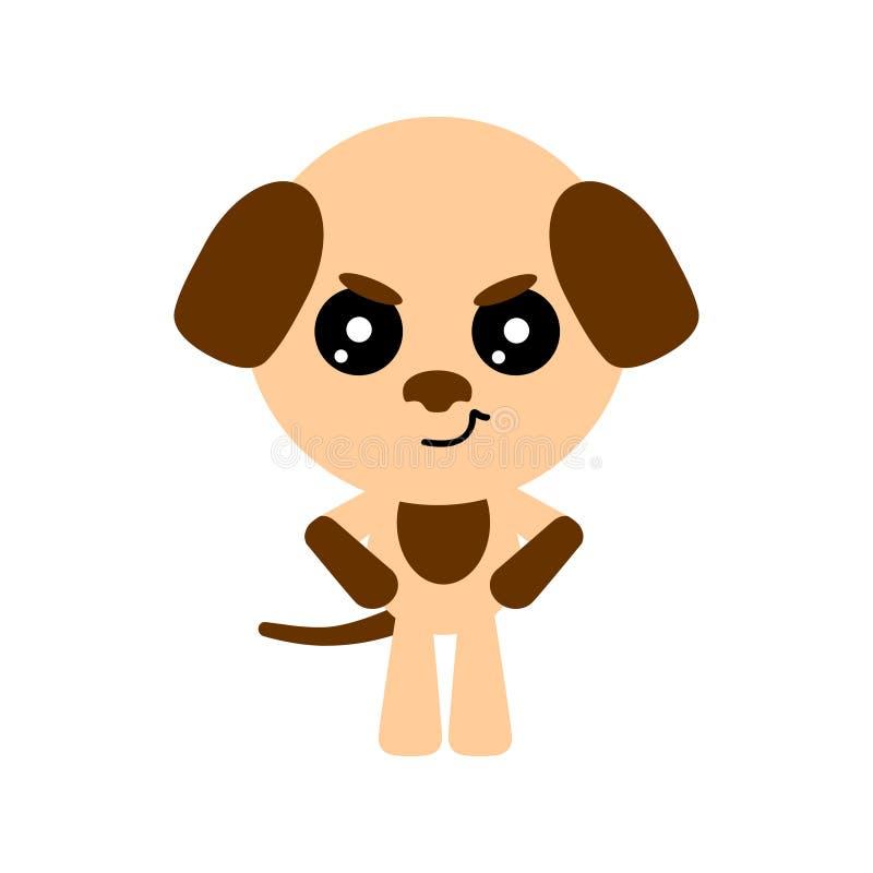 χαριτωμένο διάνυσμα απεικόνισης σκυλιών τέχνης 0 χαρακτήρας κινούμενων σχεδίων Άσπρη ανασκόπηση Επίπεδο σχέδιο διάνυσμα απεικόνιση αποθεμάτων
