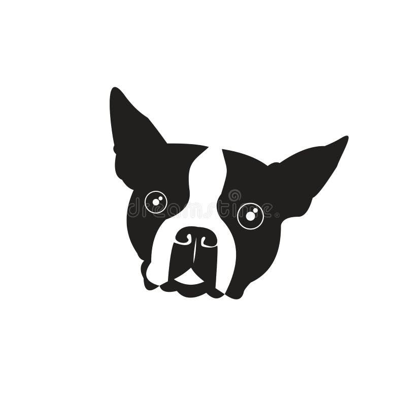 Χαριτωμένο διανυσματικό σχέδιο λογότυπων σκυλακιών απεικόνιση αποθεμάτων