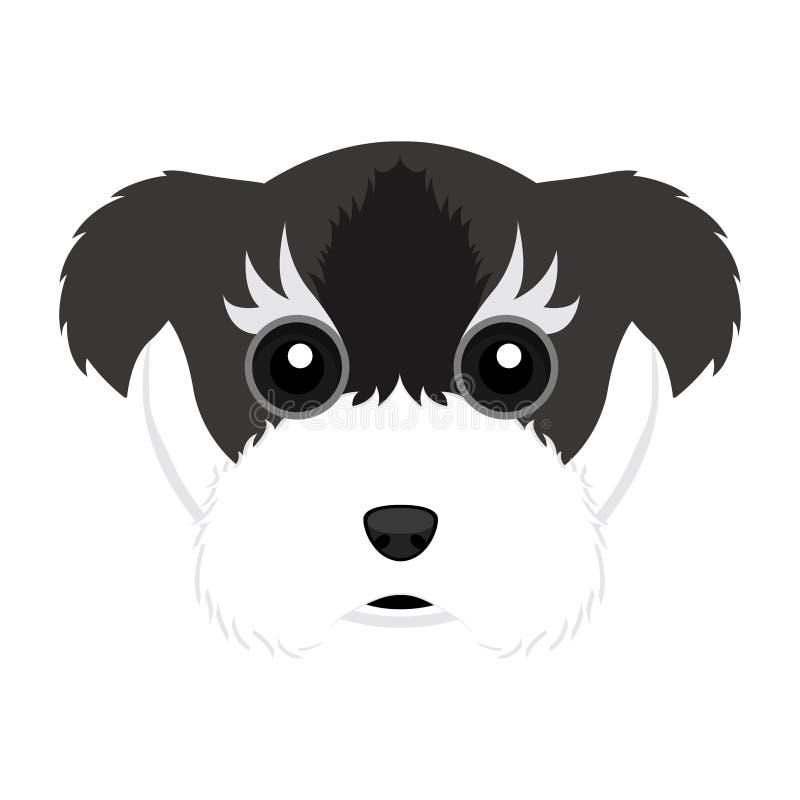 Χαριτωμένο είδωλο σκυλιών schnauzer ελεύθερη απεικόνιση δικαιώματος