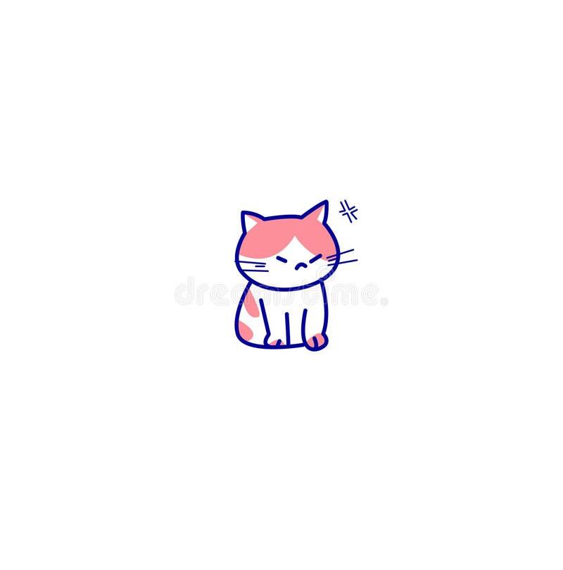 Χαριτωμένο εικονίδιο γατών απεικόνιση αποθεμάτων