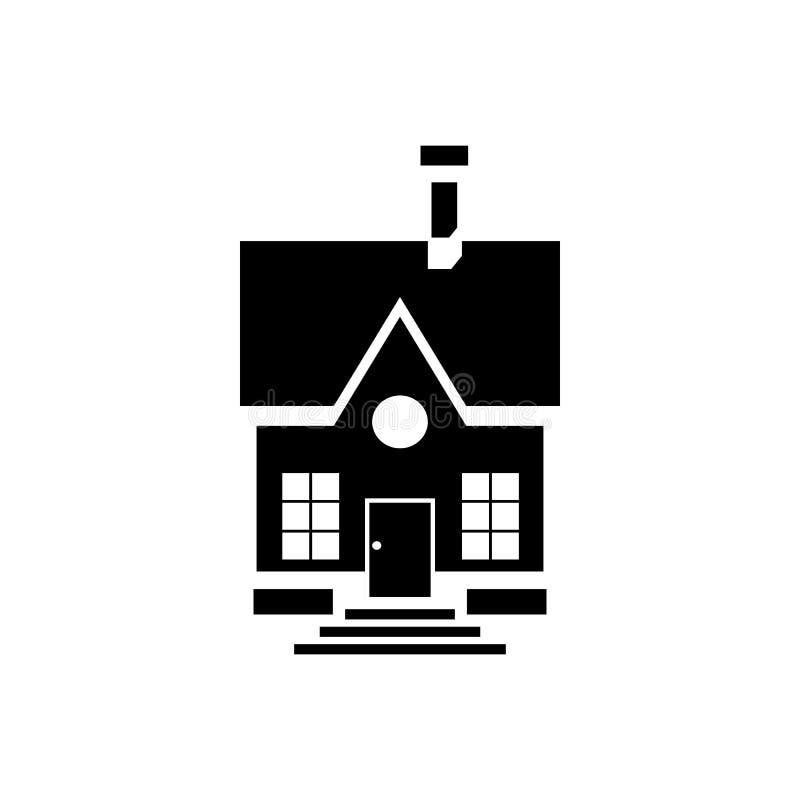 Χαριτωμένο εικονίδιο σπιτιών επαρχίας, απλό ύφος διανυσματική απεικόνιση