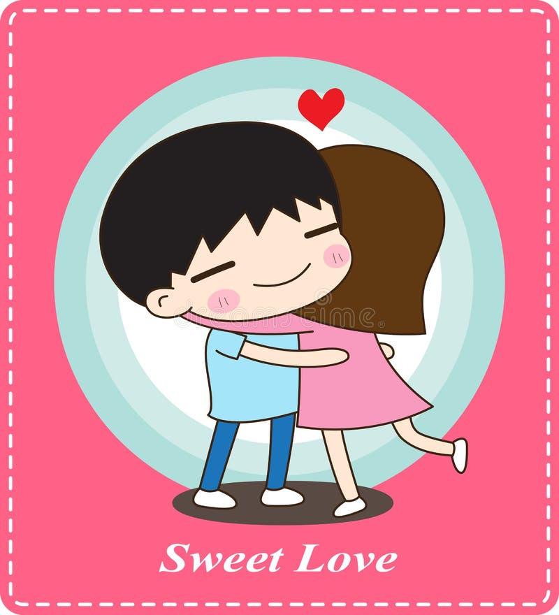 Χαριτωμένο ζεύγος που αγκαλιάζει, γλυκιά αγάπη στοκ εικόνες με δικαίωμα ελεύθερης χρήσης