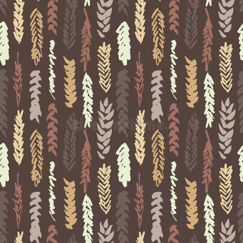 Χαριτωμένο διακοσμητικό άνευ ραφής σχέδιο με τα δημητριακά διανυσματική απεικόνιση