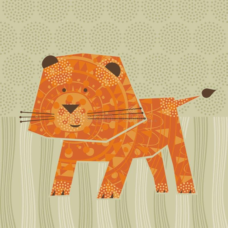Χαριτωμένο λιοντάρι διανυσματική απεικόνιση