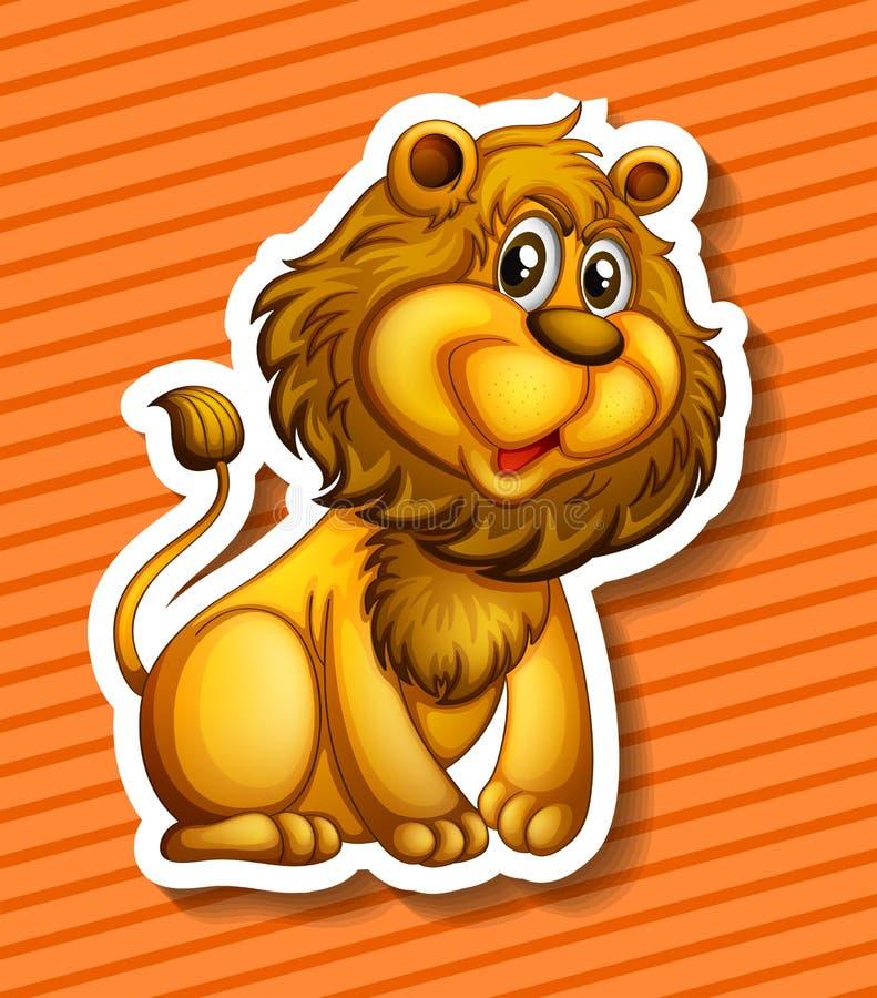 χαριτωμένο λιοντάρι ελεύθερη απεικόνιση δικαιώματος