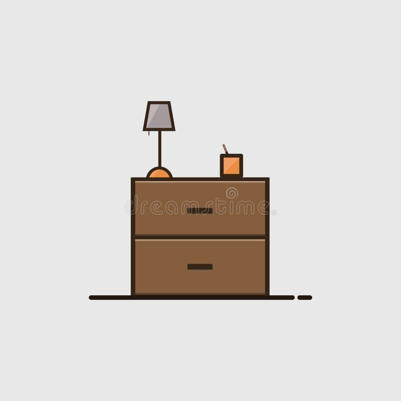 Χαριτωμένο καφετί ξύλινο εικονίδιο γραφείων στοκ φωτογραφία με δικαίωμα ελεύθερης χρήσης