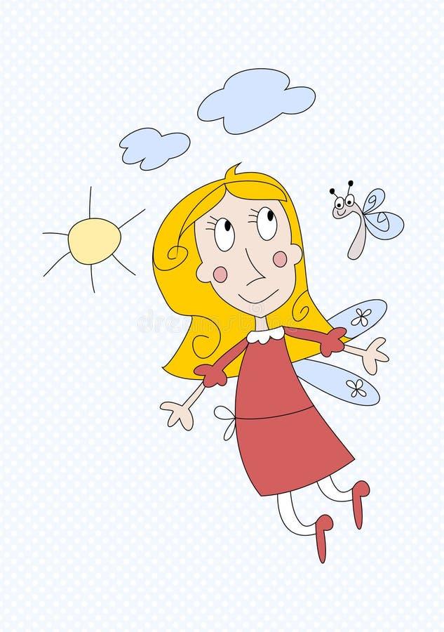 χαριτωμένο κορίτσι νεράιδων λίγα ελεύθερη απεικόνιση δικαιώματος