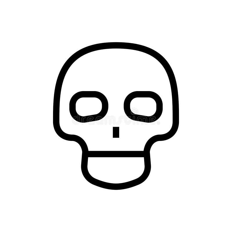 Χαριτωμένο κρανίων εικονιδίων σχεδίου επικεφαλής σύμβολο ανατομίας σκελετών ανθρώπινο ιατρική απεικόνιση υγειονομικής περίθαλψης  ελεύθερη απεικόνιση δικαιώματος