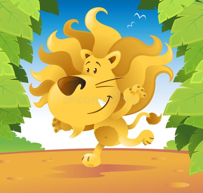 χαριτωμένο λιοντάρι απεικόνιση αποθεμάτων