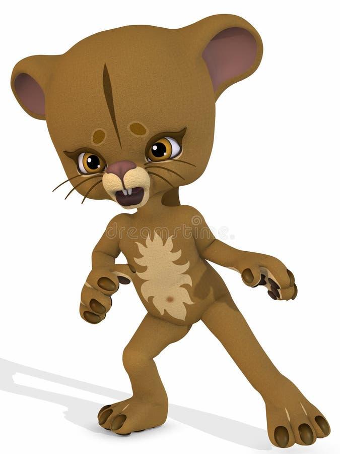 χαριτωμένο λιοντάρι Toon αριθμού διανυσματική απεικόνιση