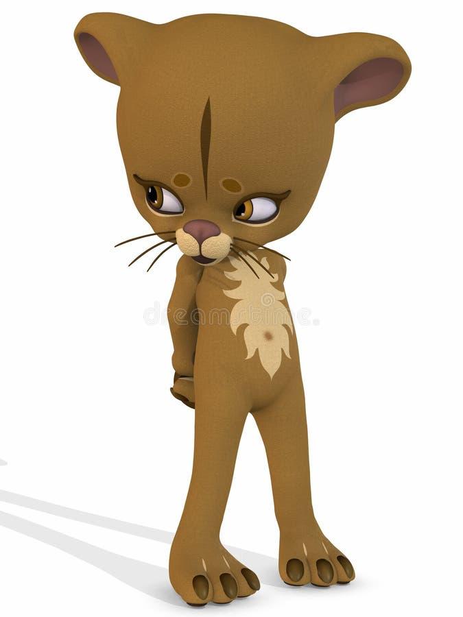χαριτωμένο λιοντάρι Toon αριθ& ελεύθερη απεικόνιση δικαιώματος
