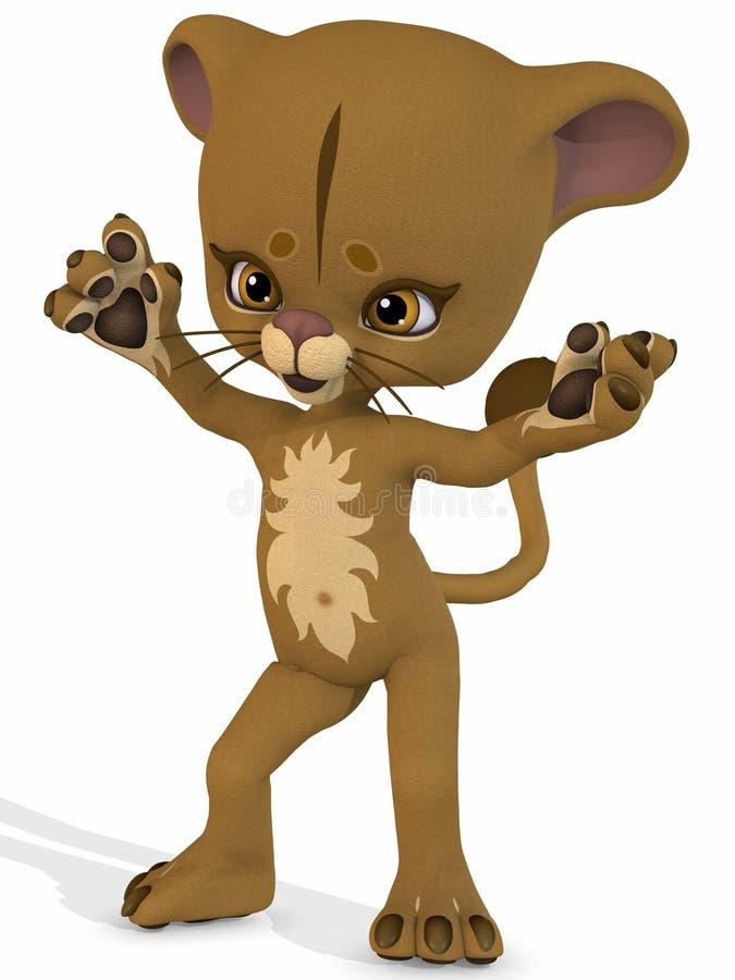χαριτωμένο λιοντάρι Toon αριθ& απεικόνιση αποθεμάτων