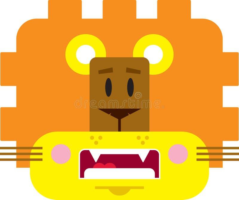 Χαριτωμένο λιοντάρι κινούμενων σχεδίων ελεύθερη απεικόνιση δικαιώματος