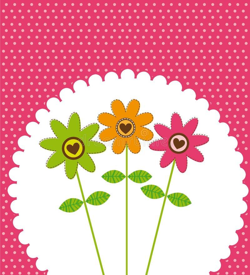 χαριτωμένο λουλούδι διανυσματική απεικόνιση