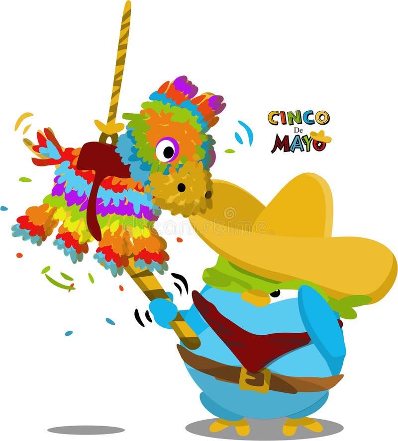χαριτωμένο μεξικάνικο penguin απεικόνιση αποθεμάτων
