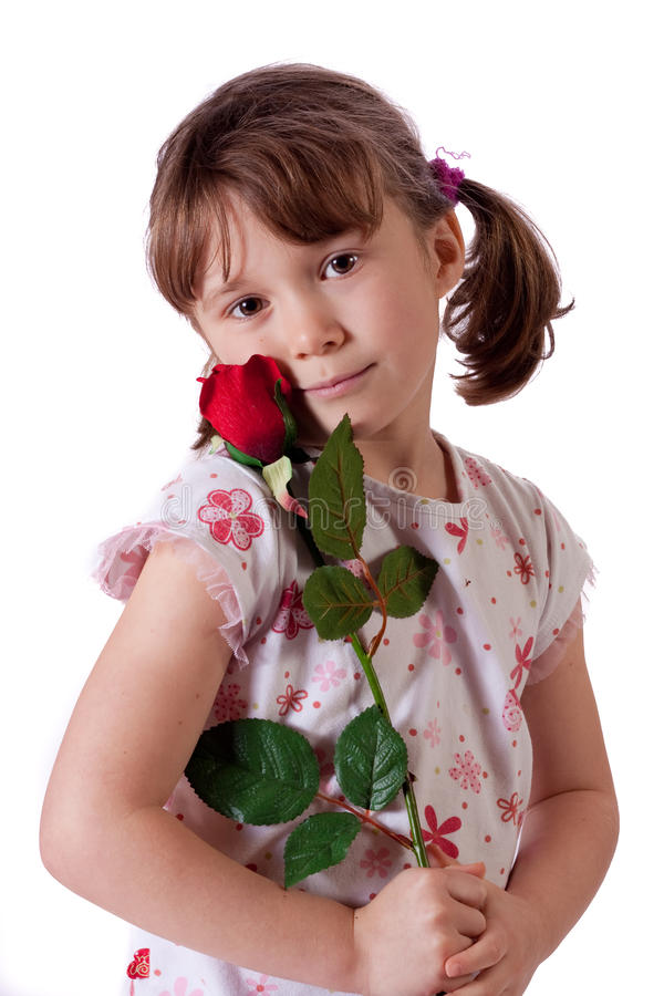 Χαριτωμένο μικρό κορίτσι στοκ εικόνα με δικαίωμα ελεύθερης χρήσης