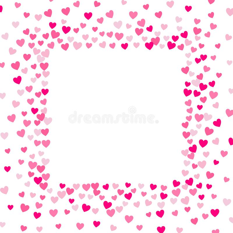 Χαριτωμένο μικρό υπόβαθρο καρδιών, τυχαία διαταγή, διαφορετικά μέγεθος και χρώματα απεικόνιση αποθεμάτων