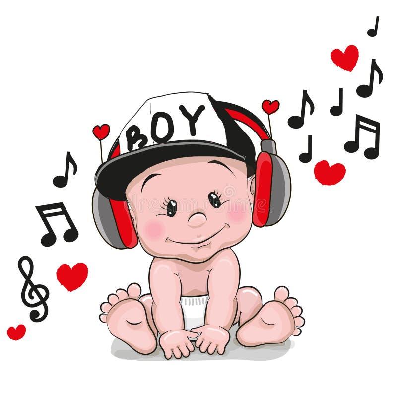 Χαριτωμένο μωρό κινούμενων σχεδίων διανυσματική απεικόνιση