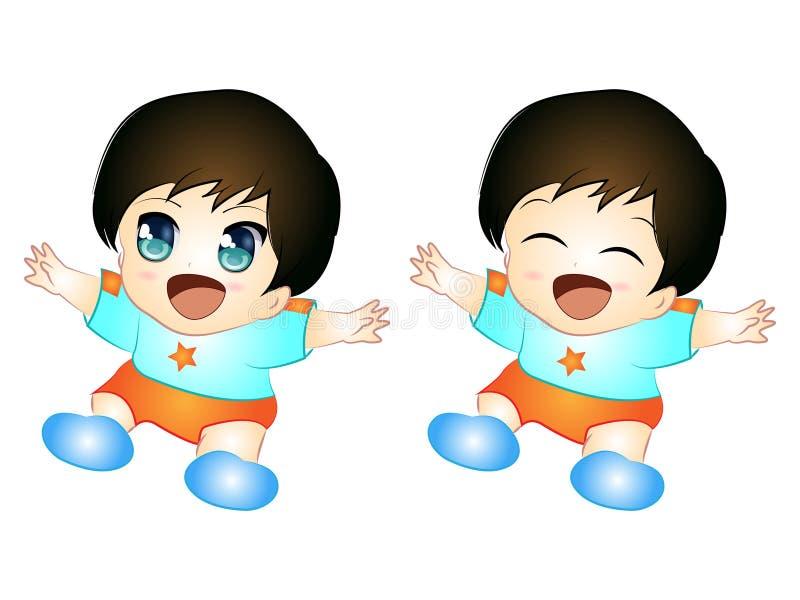 Χαριτωμένο μωρό Chibi ελεύθερη απεικόνιση δικαιώματος