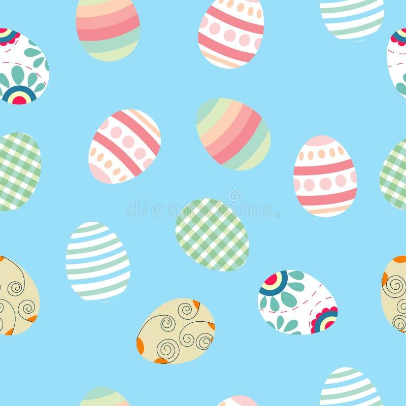 Χαριτωμένο Πάσχας υπόβαθρο σχεδίων αυγών άνευ ραφής Διανυσματικό Illustratio ελεύθερη απεικόνιση δικαιώματος