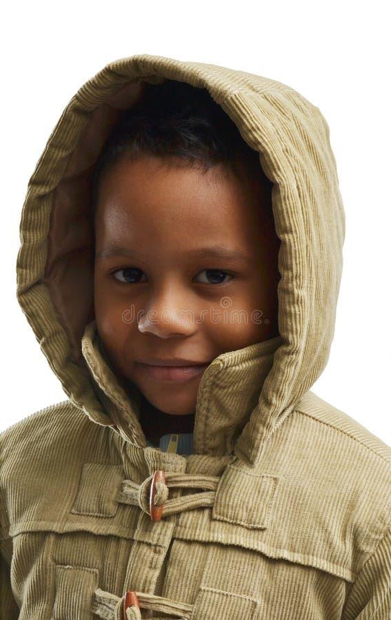 Χαριτωμένο παιδί στην κουκούλα στοκ φωτογραφία με δικαίωμα ελεύθερης χρήσης