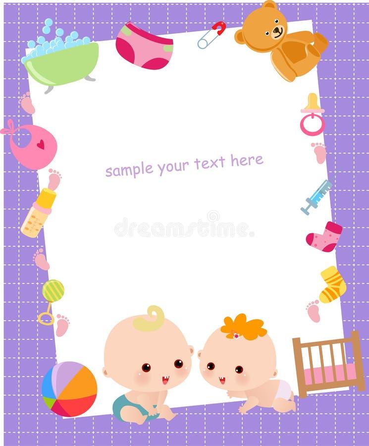 Χαριτωμένο πλαίσιο μωρών διανυσματική απεικόνιση