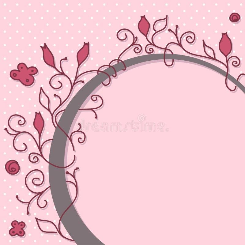 χαριτωμένο πλαίσιο girly διανυσματική απεικόνιση