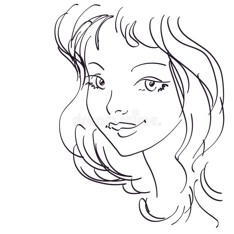 χαριτωμένο πορτρέτο κοριτ απεικόνιση αποθεμάτων