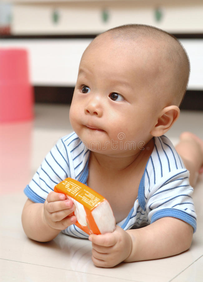 χαριτωμένο πορτρέτο μωρών στοκ φωτογραφία