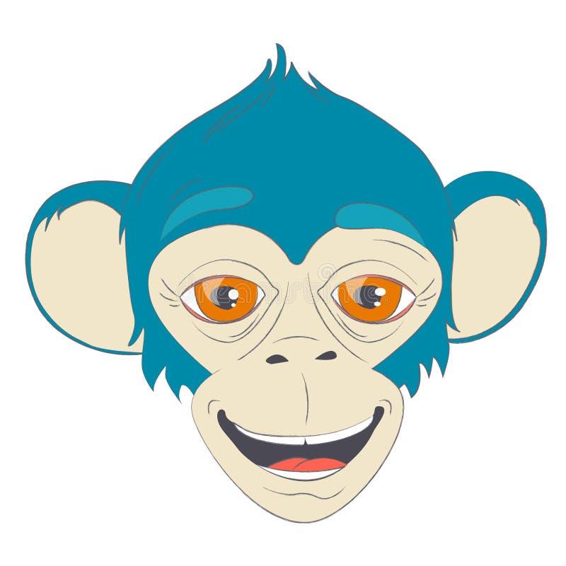 Χαριτωμένο πορτρέτο πιθήκων χαμόγελου ελεύθερη απεικόνιση δικαιώματος