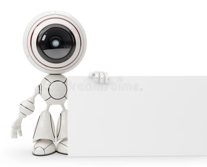 Χαριτωμένο ρομπότ διανυσματική απεικόνιση