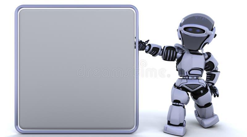 χαριτωμένο ρομπότ cyborg διανυσματική απεικόνιση