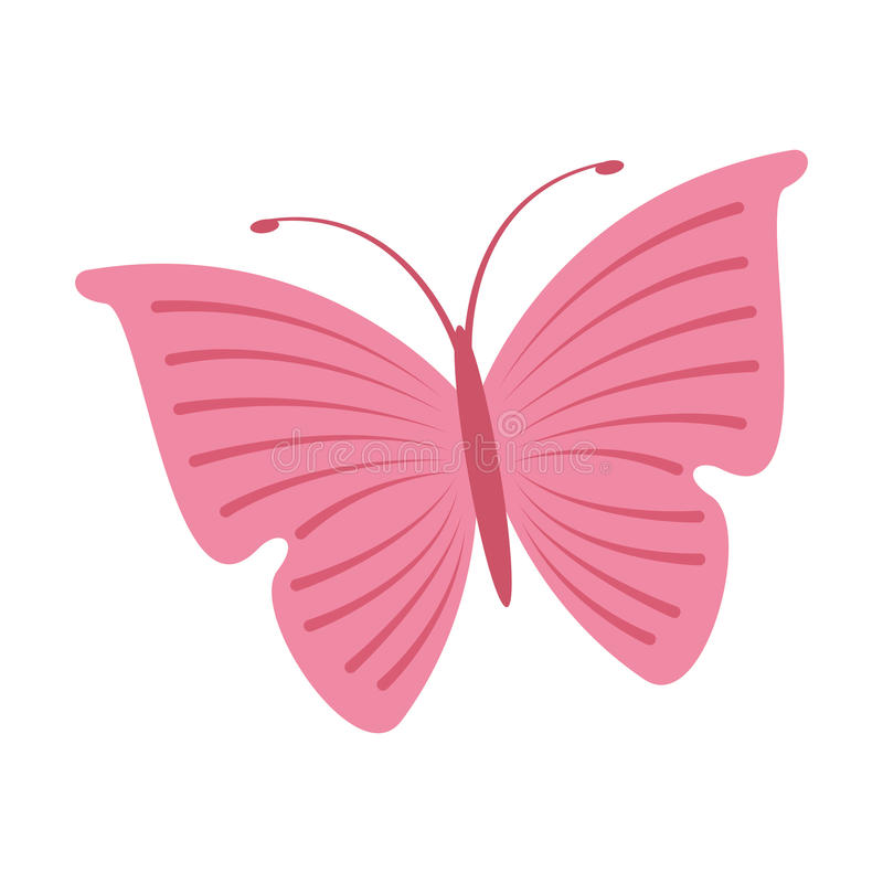 Χαριτωμένο ρόδινο εικονίδιο πεταλούδων απεικόνιση αποθεμάτων
